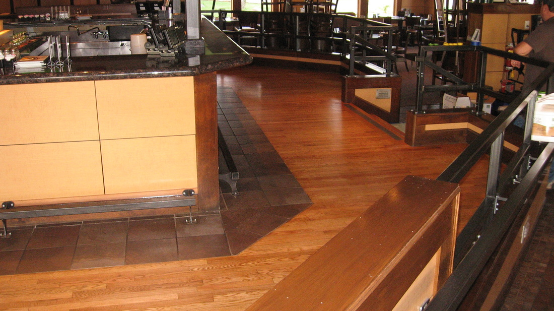 Bennigans Restaurant Pleasant Welcome Custom Hardwood Floors Amp Cabinet Refacing